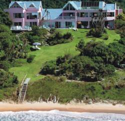 The Pink Lodge on the Beach